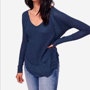Free People Catalina Thermal Top Blue S